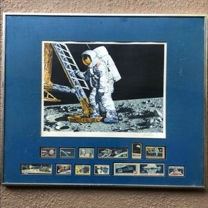 Conquest of Space Astronaut 1979 Lithograph Stamps